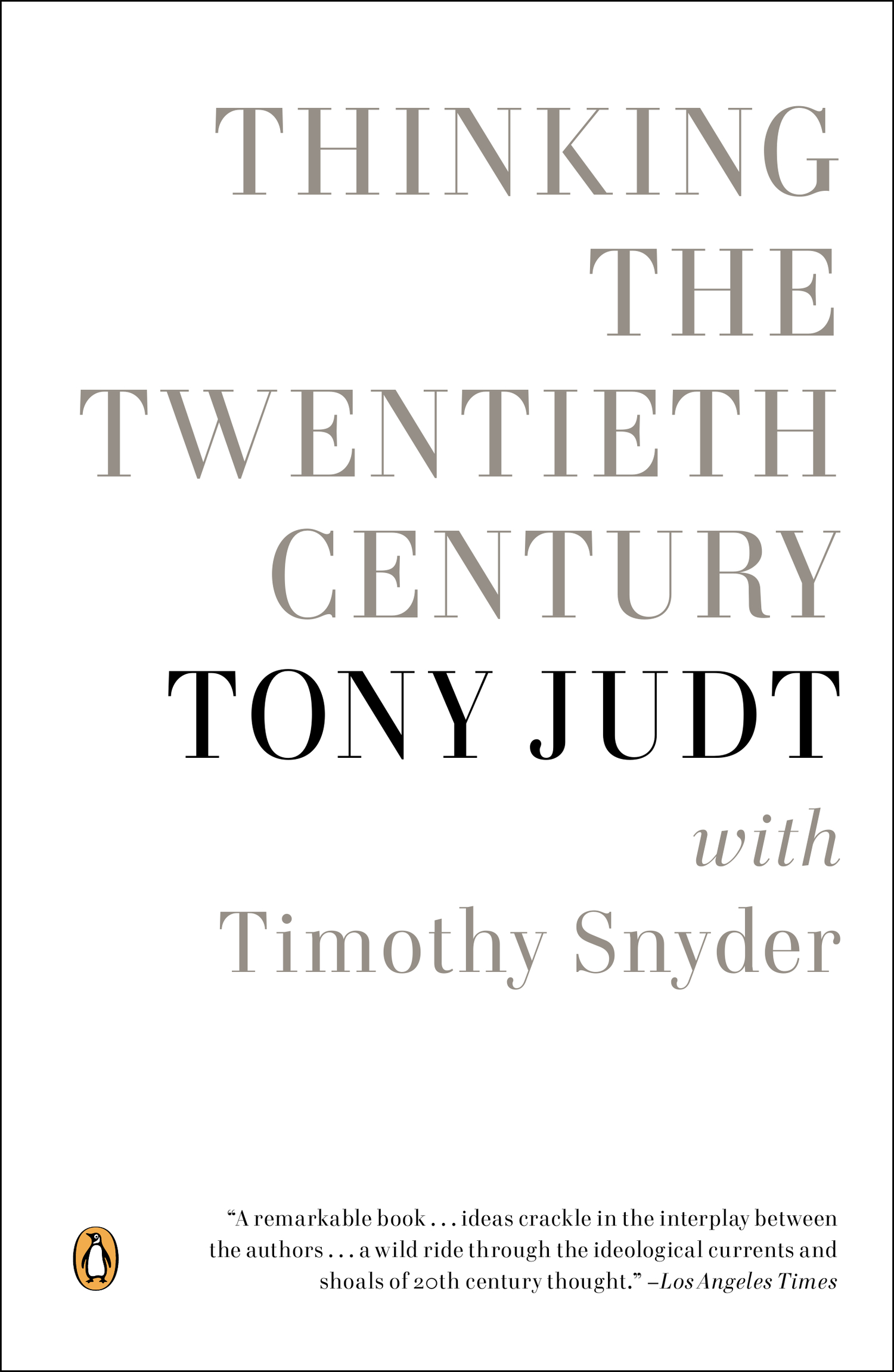 Thinking the Twentieth Century book cover